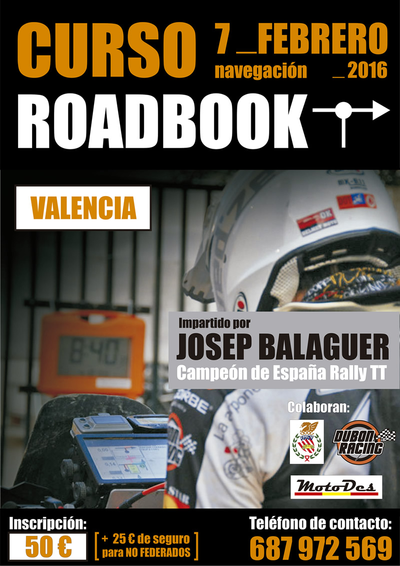 cartel CURSO ROADBOOK 7feb